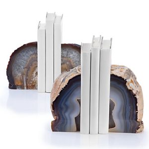 15th agate bookends zgallerie