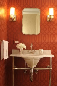 tt red bathroom Carmina Roth Interior