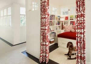 TT red reading nook Dillon Kyle Architecture